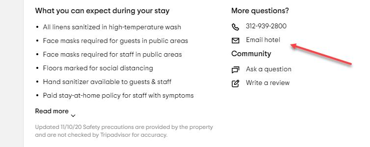 Scrape TripAdvisor Hotel Email
