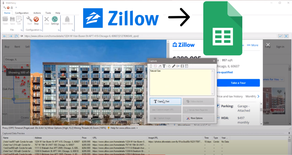 Scraping Zillow Property Data